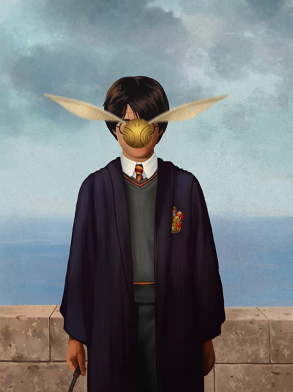 Magritte Harry Potter by Ben Chen