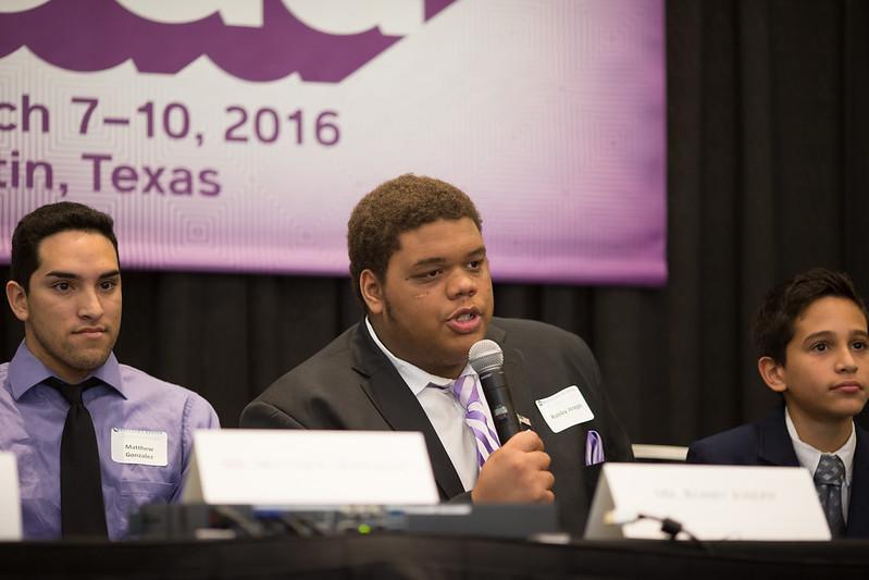 Student panelist speaks