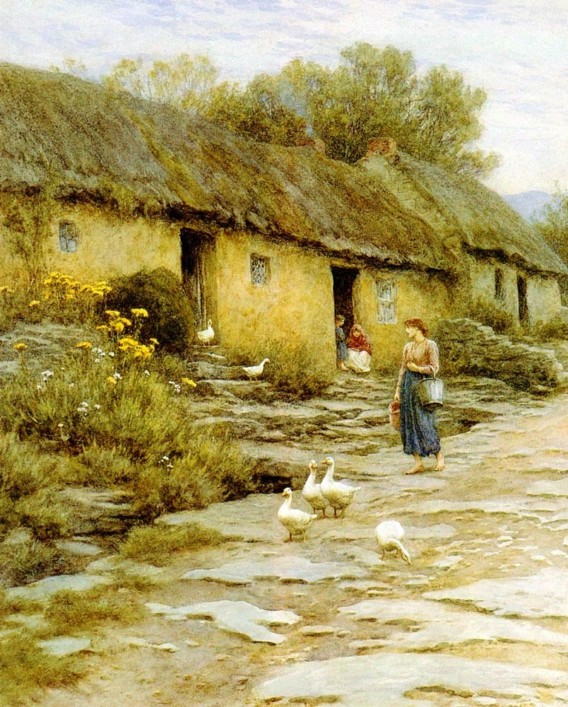 Irish Cottage by Helen Allingham