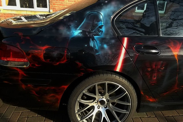 Star Wars Car by Sam Hubbard of Airbrush Perfections