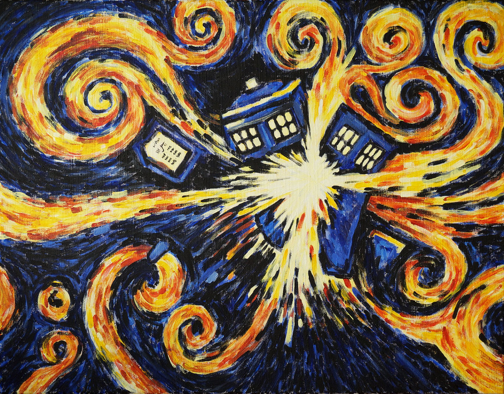 exploding tardis inspired by doctor who amp vincent van