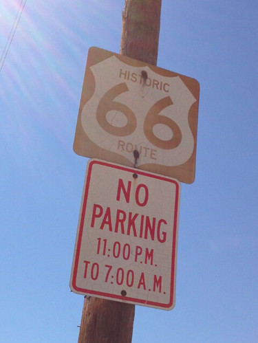 route 66 sign no parking