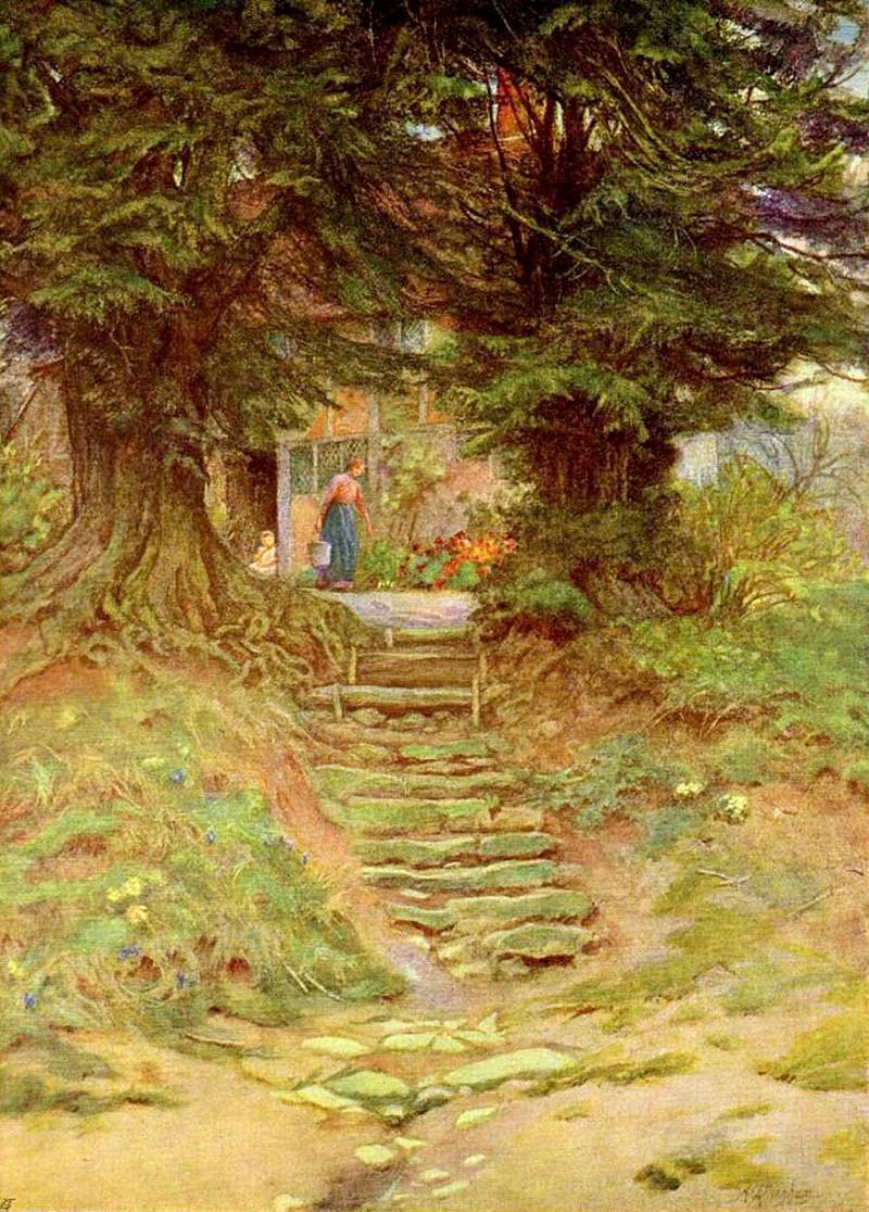 A Cottage Near Crocken Hill by Helen Allingham