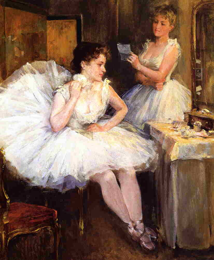 The Ballet Dancers (also known as The Dressing Room) by Willard Leroy Metcalf - 1885
