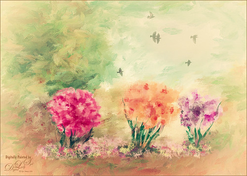 Painted Flowers using Paintstorm Studio