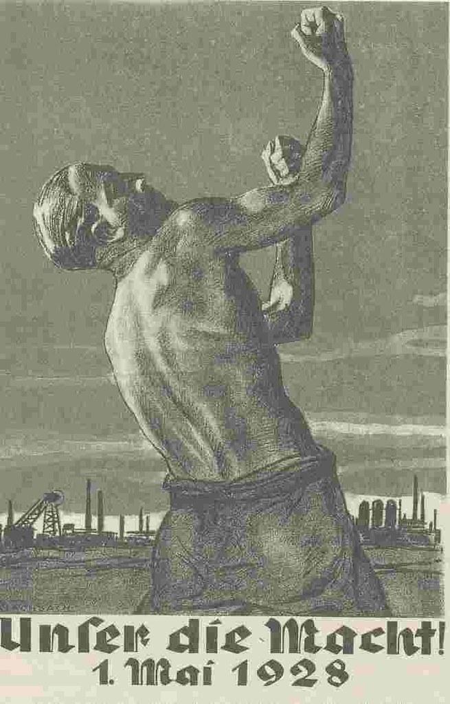 德國,1928年五一海報「我們的力量」