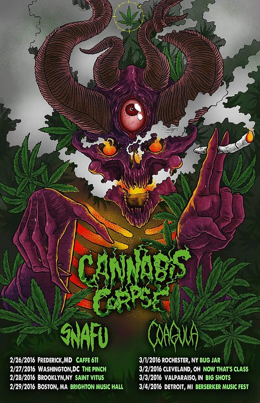 Cannabis Corpse at the Pinch