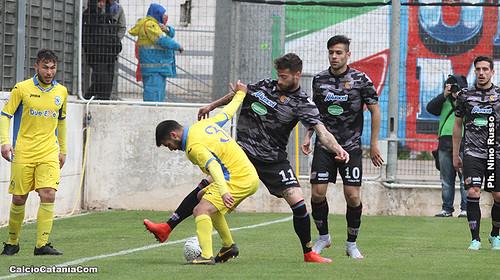 Calderini e Bombagi durante Martina Franca-Catania