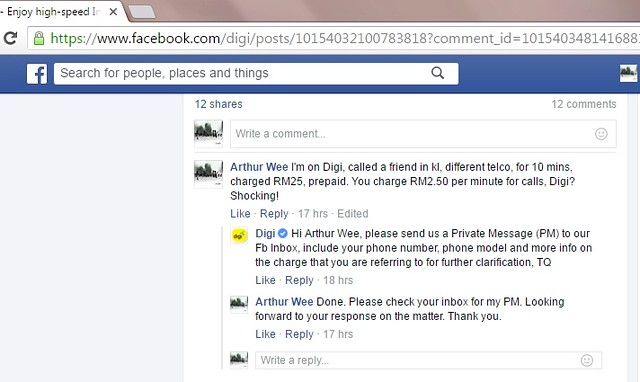 Comments on DIGI ad