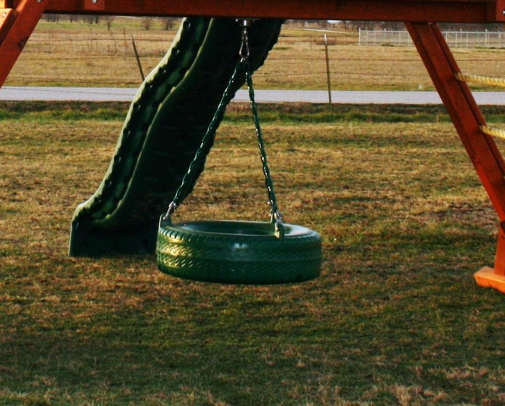 tire swing plastic backyard fun factory flickr