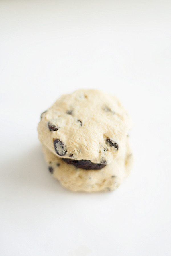 brownie stuffed chocolate chip cookie | heathersfrenchpress.com