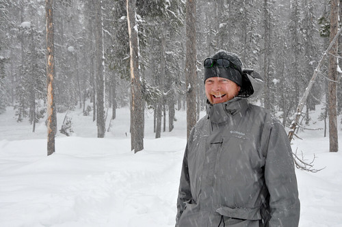 Tony Tolsdorf in a snow-covered forest