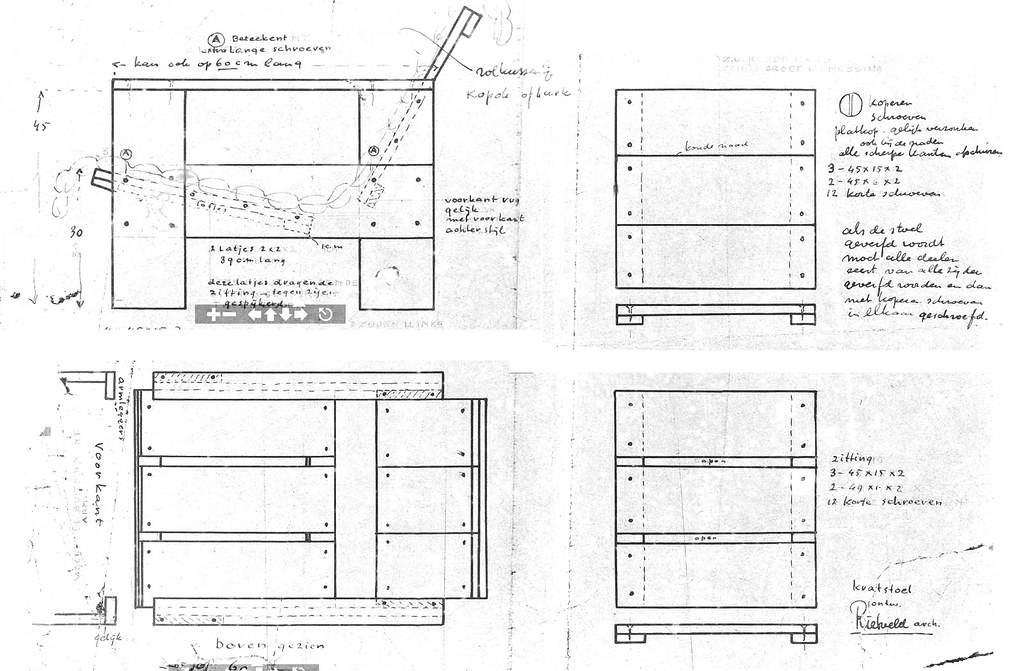 Gerrit Rietveld Crate Chair Plans Uncleverly Purloined