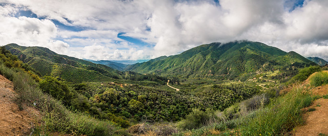 Mountains, Valley, Landscape, Cloud, San Bernardino, Pano, Panorama