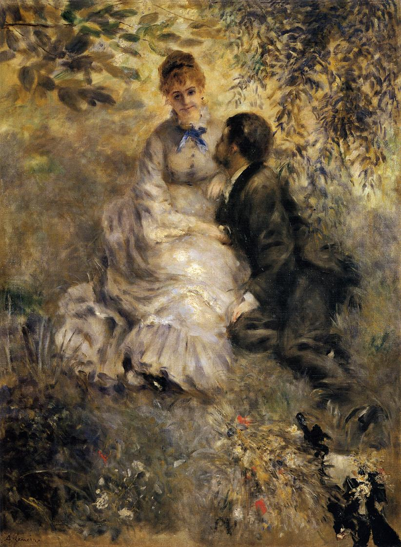 The Lovers by Pierre-Auguste Renoir, 1875.