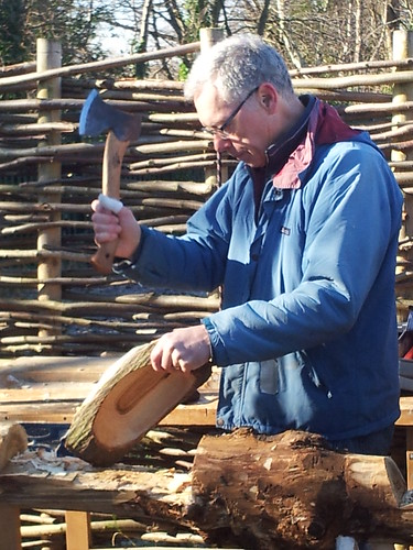 carving with axe