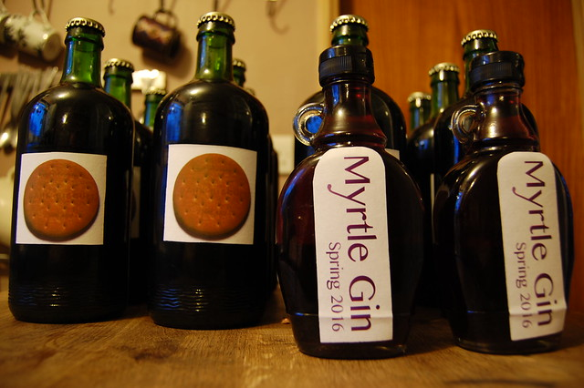 Bottles with homemade labels