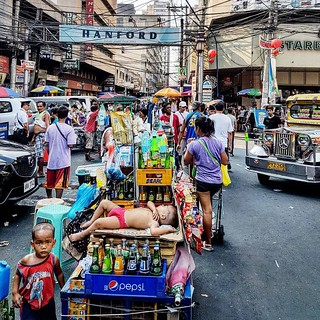 Entrada do Mercado Divisoria em Manila nas Filipinas