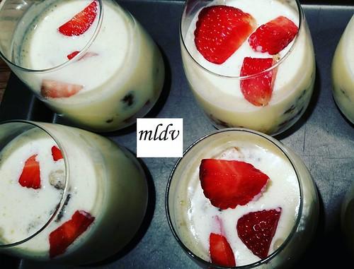 Tiramisu de fraise/crumble/nutella