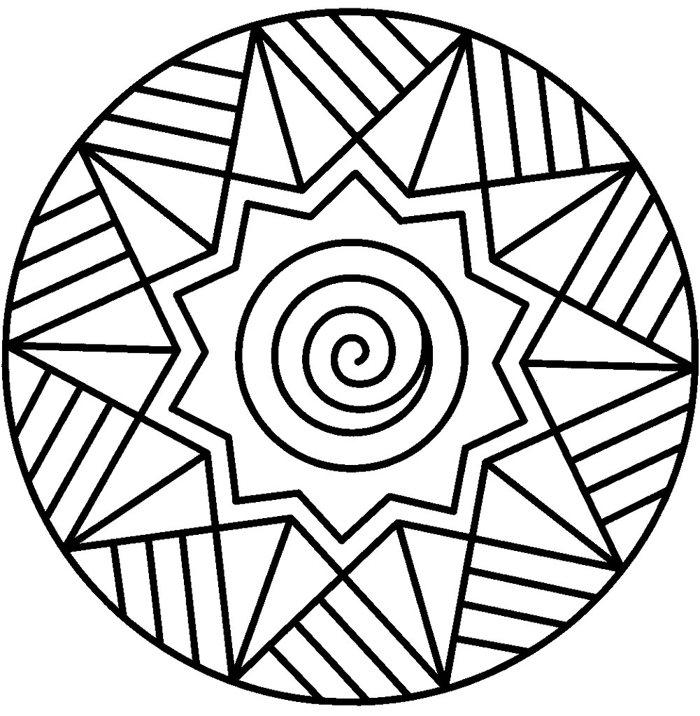 abstract coloring pages easy mandala coloring pages printa flickr. Black Bedroom Furniture Sets. Home Design Ideas