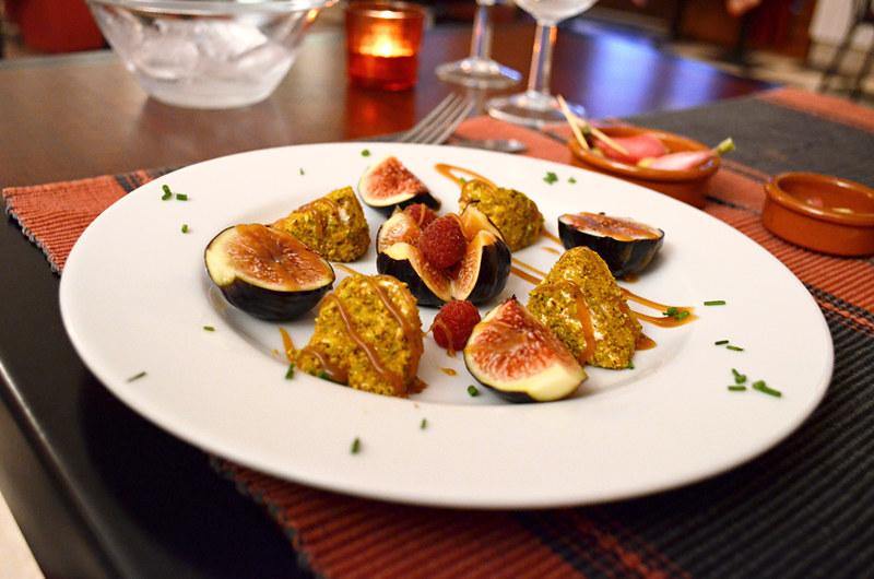 Goat cheese and figs, Bistro de Pierrerue, Provence