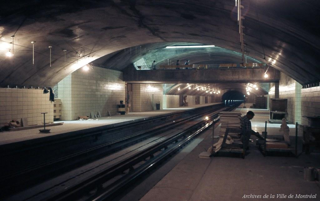 Finition De La Station De M 233 Tro Sauv 233 Juillet 1966 Vm94