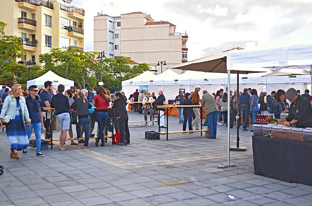 Stalls, Wine and tapas fair, Plaza Europa, Puerto de la Cruz, Tenerife