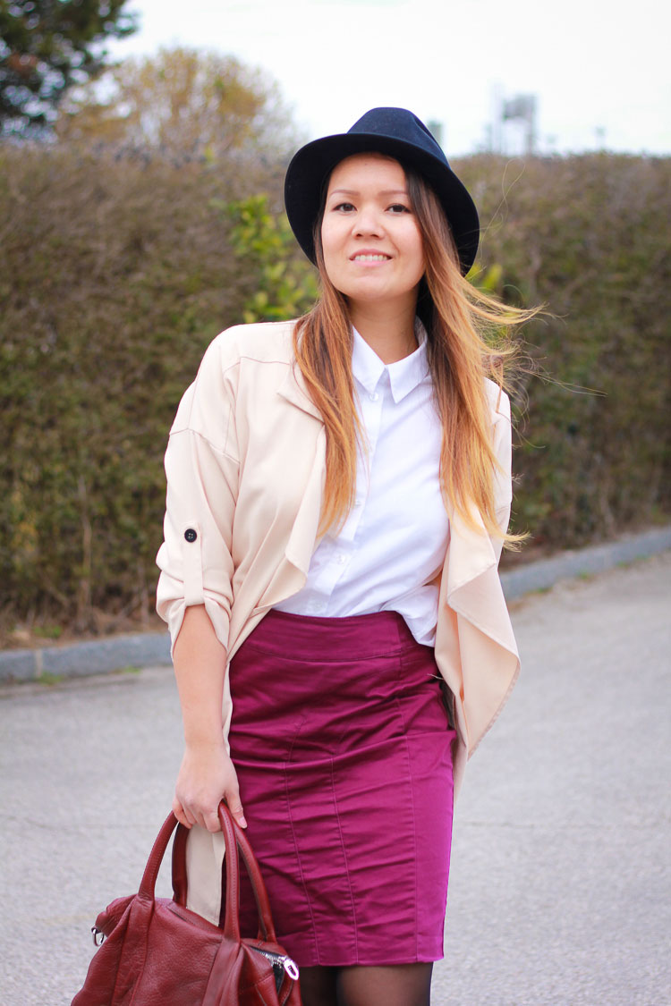 FabFashionaire | Lavender - Soft Draped Jacket & Purple Pencil Skirt
