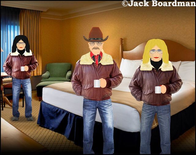 In their hotel room ©Jack Boardman