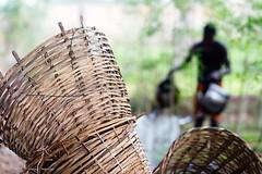 Making baskets in Niger