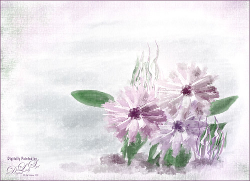 Painted Image of some Spring Flowers