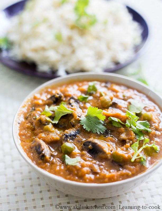 Mushroom Matar Curry