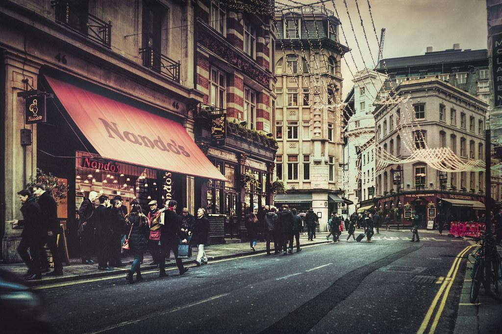 Rue de Soho à Londres dans l'objectif de Luc Mercelis @ Flickr