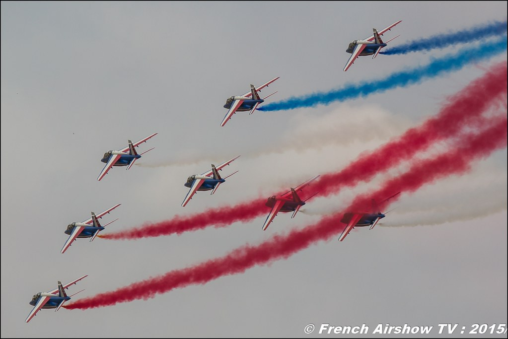 Patrouille de France , Alphajet ,Athos , French Team Display, Paris Airshow 2015 , Salon du Bourget 2015 ,lebourget, Meeting Aerien 2015