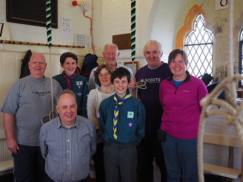 All the ringers for St George's day parade.