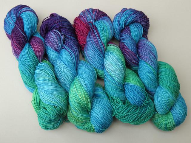 Favourite Sock – hand-dyed superwash merino 4 ply yarn 'Refraction'