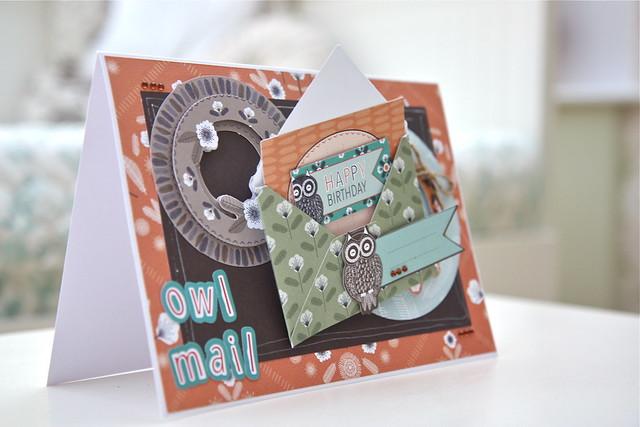 Owl Folk owl mail card by StickerKitten