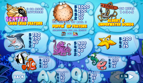 free Wacky Waters slot payout