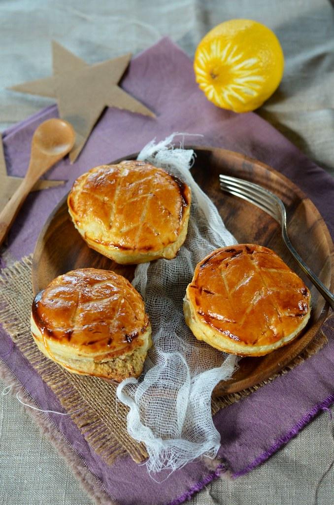 Mini galettes des rois aux zestes de citron