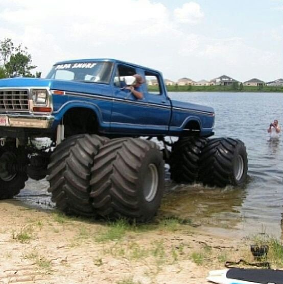 An Old Ford Super Duty Crew Cab 4 Wheel Dually Monster Tru
