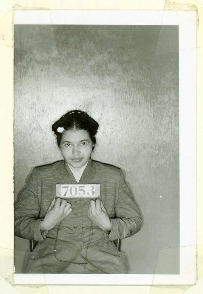 Rosa Parks Number 7053 Montgomery Alabama Police Photo