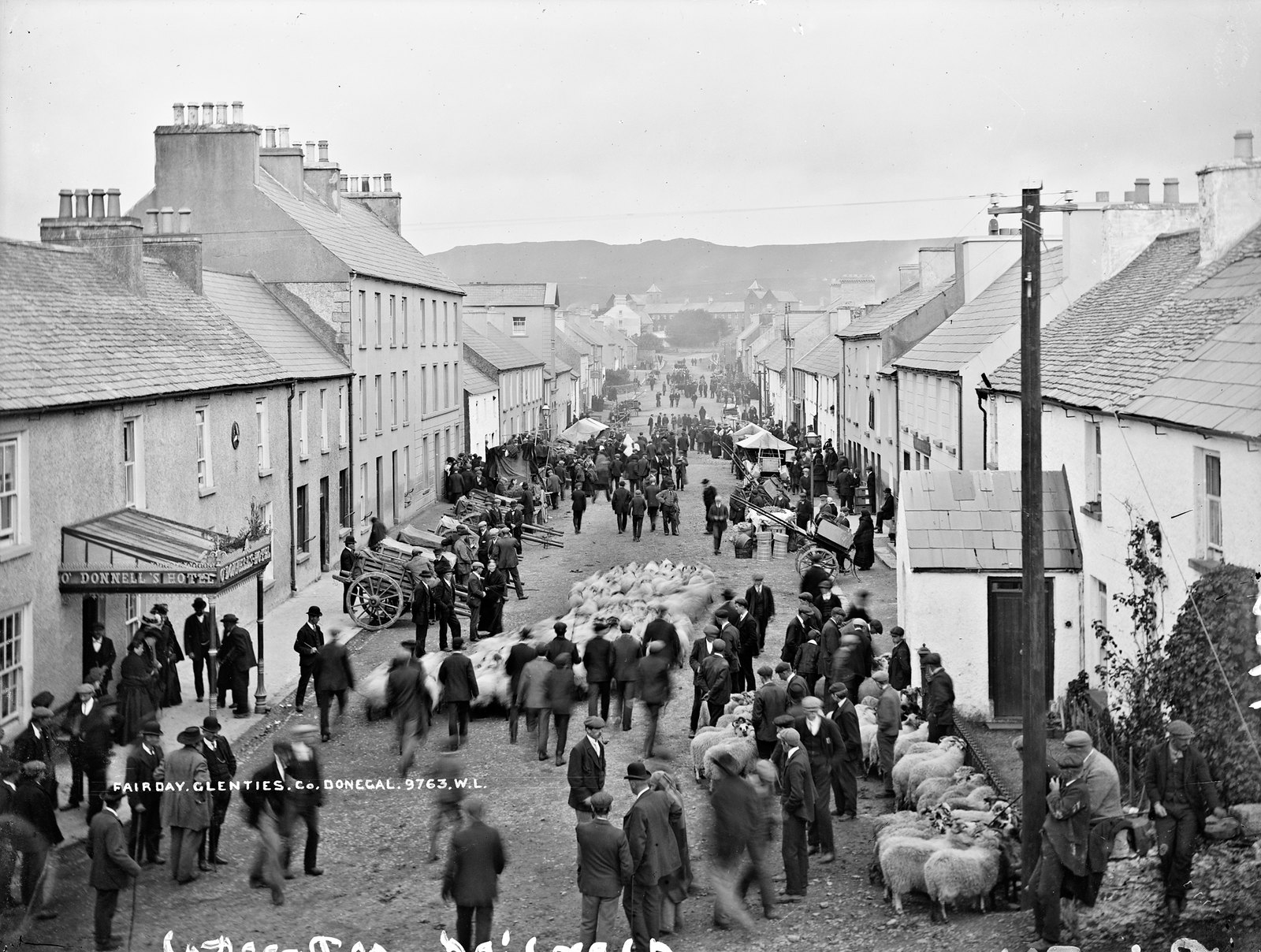 Fair Day, Glenties, Co. Donegal | by National Library of Ireland on The Commons