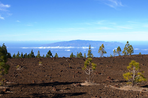 La Gomera from Teide National Park, Tenerife
