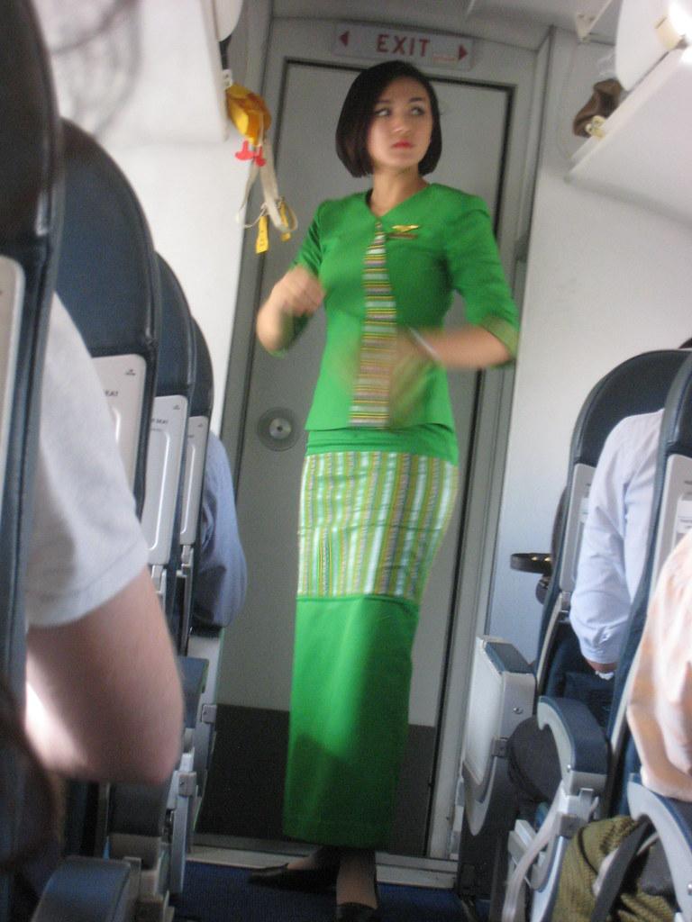 Air Kbz Flight Attendant Yangon Myanmar Clipper