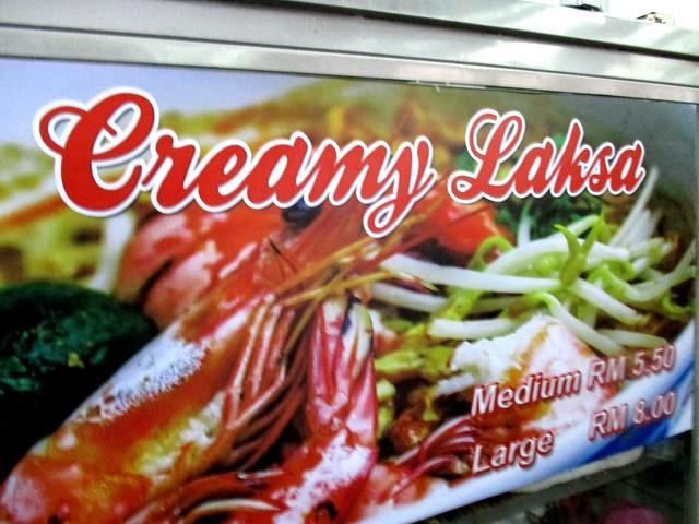 Creamy laksa stall