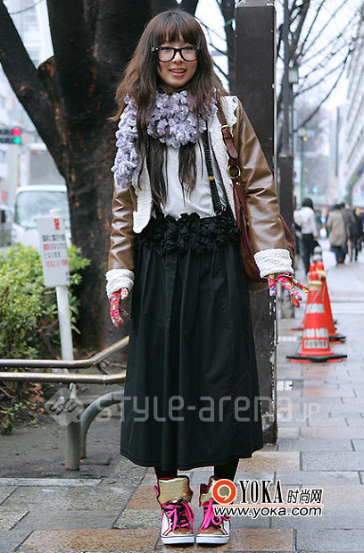 Street in Tokyo the best leather jacket style