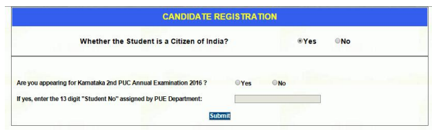 KCET 2017 Application Form