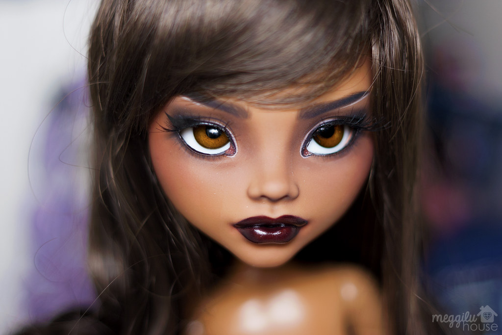 luna  mh clawdeen 17 quot   finished my very first vinyl doll