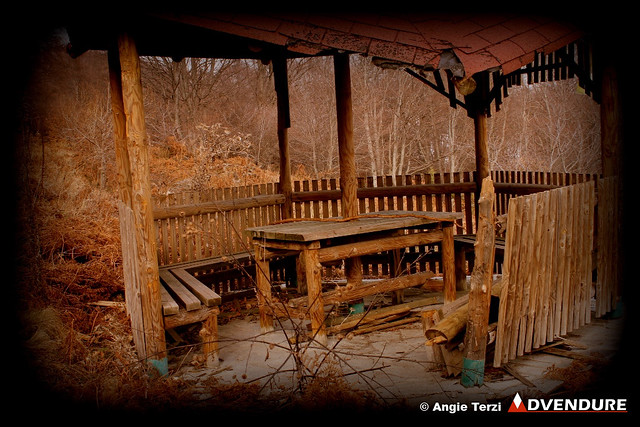 The kiosk that had been attacked by the bear. It is not the first time, as we learned!
