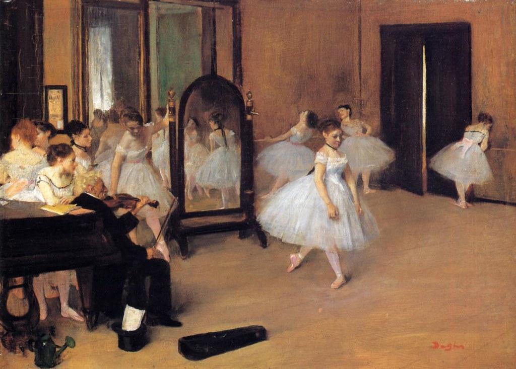 The Dancing Class by Edgar Degas, 1871